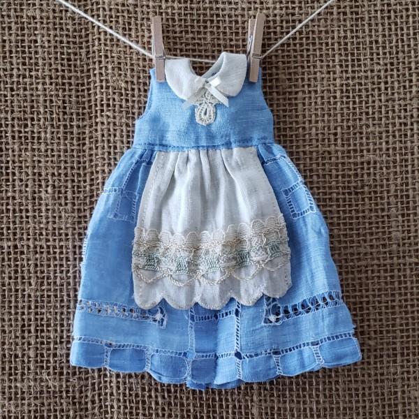 Alice-inspired OOAK vintage hankie dress