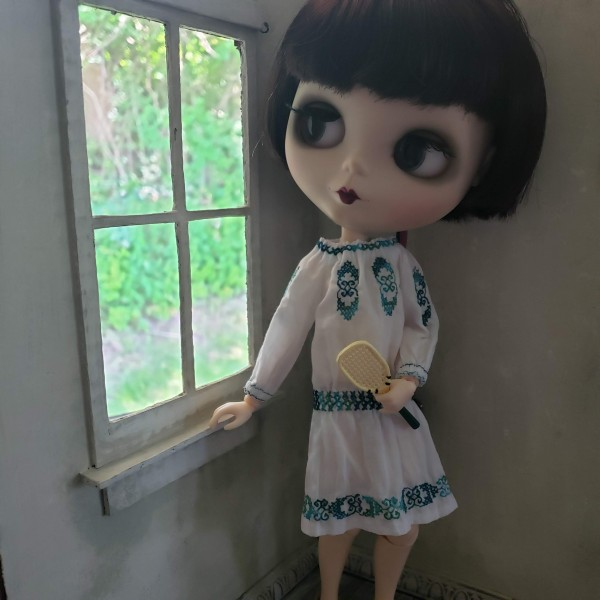 Helen - Embroidered Peasant Dress